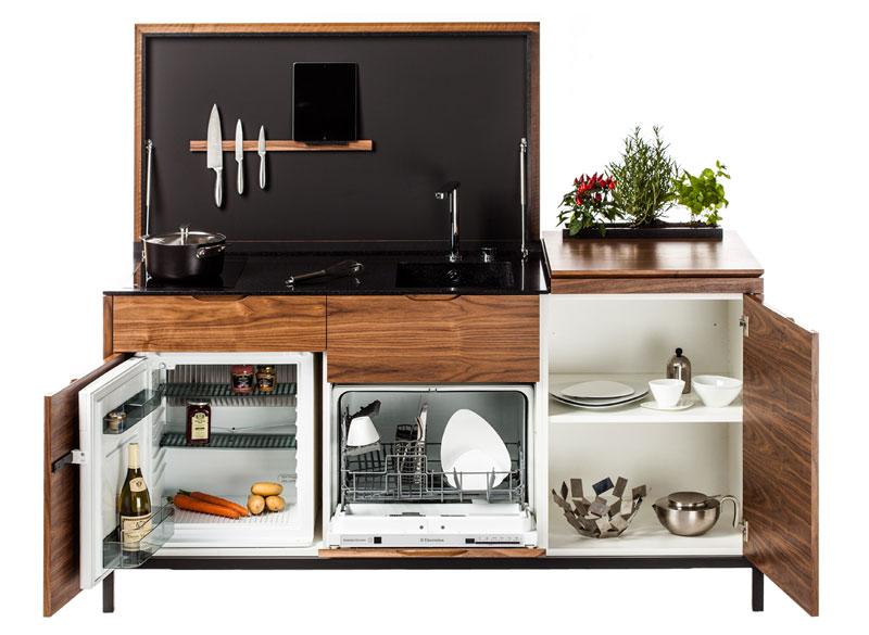 Une mini cuisine con ue pour les petits espaces for Cuisine pour petit espace