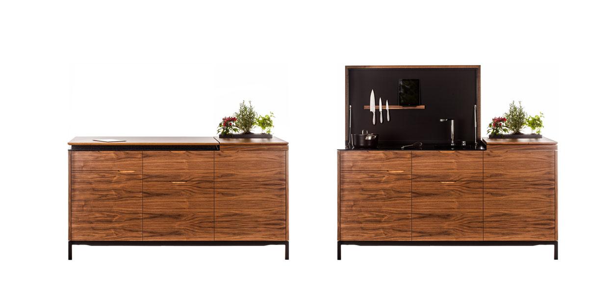 cuisine équipée compacte pratique studio petit appartement design élégante architecte