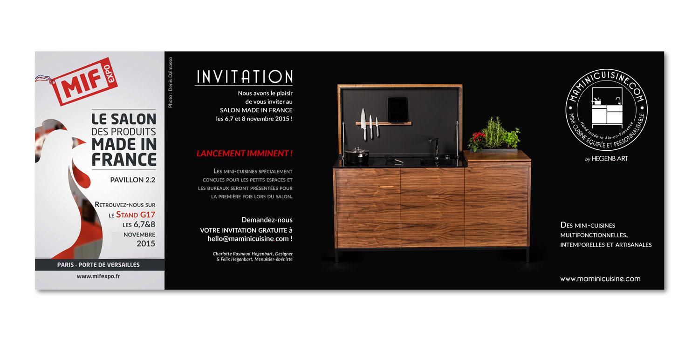 invitation au salon MIF Expo mini cuisine haut de gamme pour petits espaces