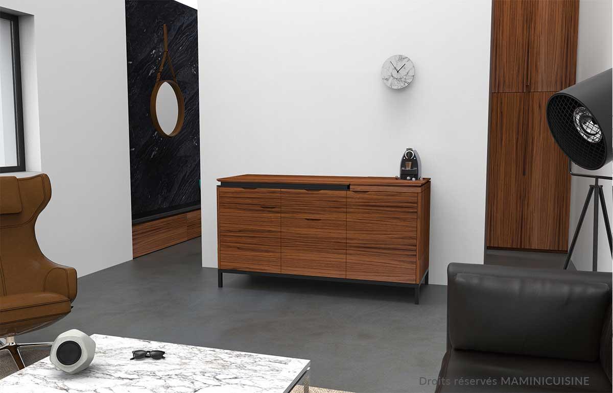 Petite cuisine luxe pour bureaux contemporains et modernes